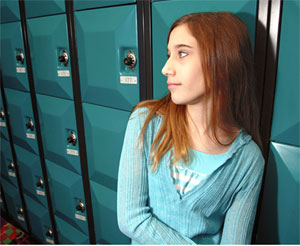 girl at locker